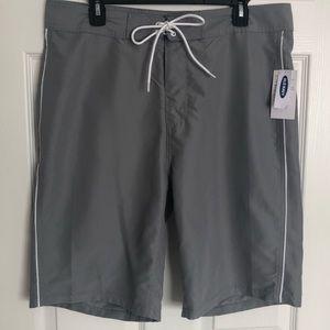 Old Navy Men's Gray Swim Trunks Size 34